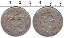 Изображение Монеты Колумбия 50 сентаво 1913 Серебро XF-