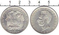 Изображение Монеты Эквадор 10 сукре 1944 Серебро UNC-