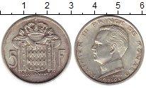 Изображение Монеты Монако 5 франков 1960 Серебро XF+