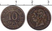 Изображение Монеты Дания 10 эре 1910 Серебро XF-