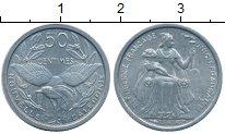 Изображение Монеты Франция Новая Каледония 50 сантим 1949 Алюминий XF+