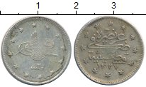 Изображение Монеты Турция 2 куруша 1910 Серебро XF