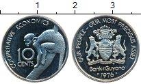 Изображение Монеты Гайана 10 центов 1976 Медно-никель Proof-