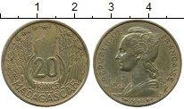 Изображение Монеты Мадагаскар 20 франков 1953 Латунь XF