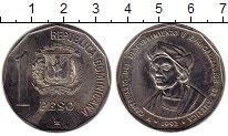 Изображение Монеты Доминиканская республика 1 песо 1992 Медно-никель UNC-