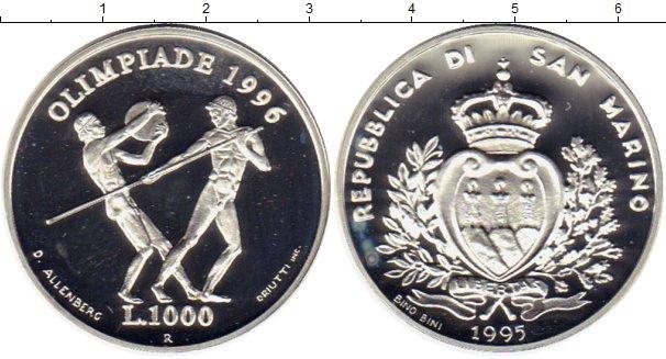 Картинка Монеты Сан-Марино 1.000 лир Серебро 1995