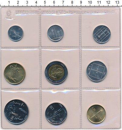 """Изображение Наборы монет Сан-Марино Набор 1983 года 1983  UNC """"Набор монет из обра"""