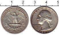 Изображение Монеты США 1/4 доллара 1962 Серебро XF