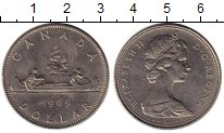 Изображение Монеты Канада 1 доллар 1969 Медно-никель UNC-