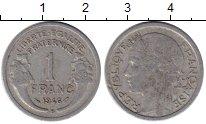 Изображение Монеты Франция 1 франк 1946 Алюминий XF-