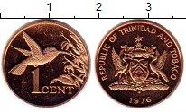 Изображение Монеты Тринидад и Тобаго 1 цент 1976 Бронза Proof-