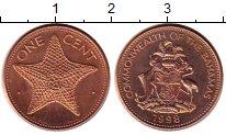 Изображение Монеты Багамские острова 1 цент 1998 Бронза UNC-