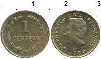 Изображение Монеты Сальвадор 1 сентаво 1989 Латунь UNC-