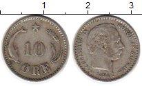 Изображение Монеты Дания 10 эре 1894 Серебро XF