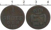 Изображение Монеты Германия Ольденбург 1/2 грота 1835 Медь VF