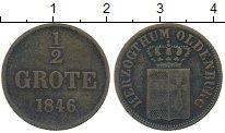 Изображение Монеты Германия Ольденбург 1/2 грота 1846 Медь VF+