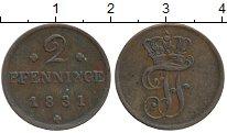 Изображение Монеты Мекленбург-Шверин 2 пфеннига 1831 Медь XF
