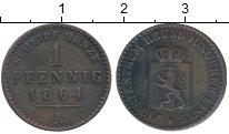 Изображение Монеты Германия Рейсс-Шляйц 1 пфенниг 1864 Медь XF