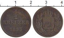 Изображение Монеты Бавария 1/2 крейцера 1853 Медь VF