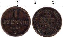 Изображение Монеты Германия Саксен-Альтенбург 1 пфенниг 1861 Медь VF