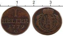 Изображение Монеты Германия Саксония 1 геллер 1779 Медь VF