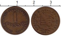 Изображение Монеты Германия Саксен-Кобург-Готта 1 пфенниг 1868 Медь VF