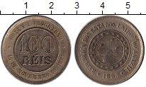 Изображение Монеты Бразилия 100 рейс 1895 Медно-никель XF