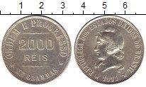 Изображение Монеты Бразилия 2000 рейс 1911 Серебро XF-