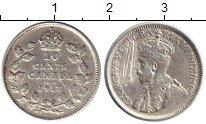Изображение Монеты Канада 10 центов 1917 Серебро XF