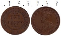 Изображение Монеты Австралия 1 пенни 1918 Бронза XF