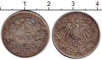 Изображение Монеты Германия 1/2 марки 1908 Серебро VF