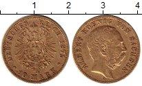 Изображение Монеты Германия Саксония 10 марок 1875 Золото XF