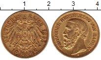 Изображение Монеты Германия Баден 10 марок 1898 Золото XF