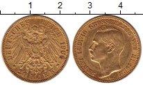 Изображение Монеты Германия Гессен 20 марок 1906 Золото XF