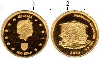Изображение Монеты Гана 500 сика 2002 Золото Proof
