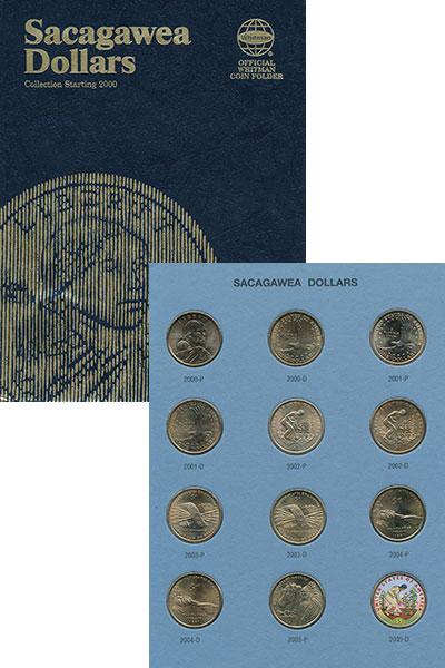 Изображение Подарочные монеты США Доллары Сакагавея 0 Латунь UNC 24 монеты по 1 долла