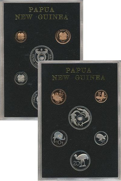 Изображение Подарочные монеты Папуа-Новая Гвинея Набор 1981 года 1981  Proof Набор из 6 монет ном
