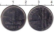 Изображение Монеты Бразилия 1 крузейро 1981 Медно-никель UNC