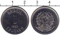 Изображение Монеты Бразилия 1 крузадо 1987 Медно-никель UNC