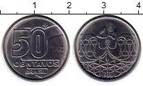 Изображение Монеты Бразилия 50 сентаво 1989 Медно-никель UNC