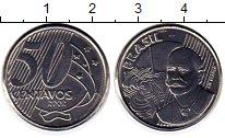 Изображение Монеты Бразилия 50 сентаво 2002 Медно-никель UNC