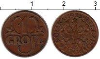 Изображение Монеты Польша 1 грош 1925 Бронза XF