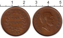 Изображение Монеты Малайзия Саравак 1 цент 1937 Бронза XF