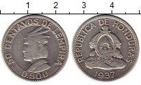 Изображение Монеты Гондурас 50 сентаво 1937 Серебро XF