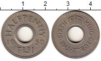 Изображение Монеты Фиджи 1/2 пенни 1950 Медно-никель XF