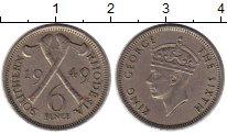 Изображение Монеты Родезия 6 пенсов 1949 Медно-никель XF