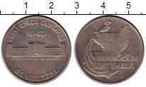 Изображение Монеты Гватемала 1 кетцаль 1943 Медно-никель XF