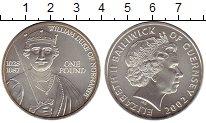 Изображение Монеты Великобритания Гернси 1 фунт 2002 Серебро UNC