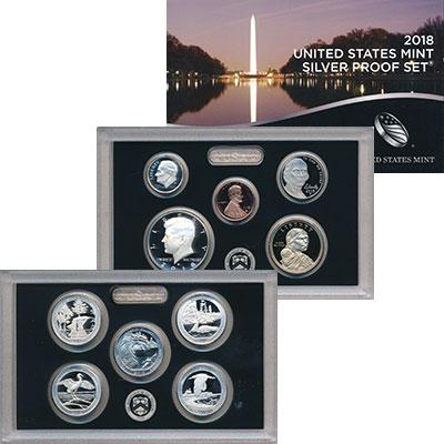 Изображение Подарочные монеты США Набор 2018 года 2018 Серебро Proof В набор входят десят