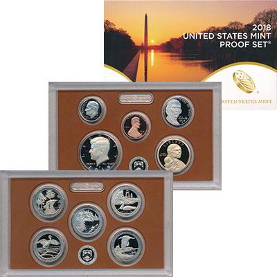 Изображение Подарочные монеты США Набор 2018 года 2018 Медно-никель Proof В набор входят десят